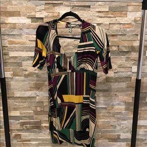 GUESS - women's tunic, geo  print with drape back